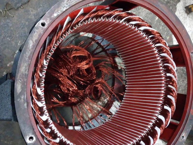 embobinando motor eléctrico industrial en mérida